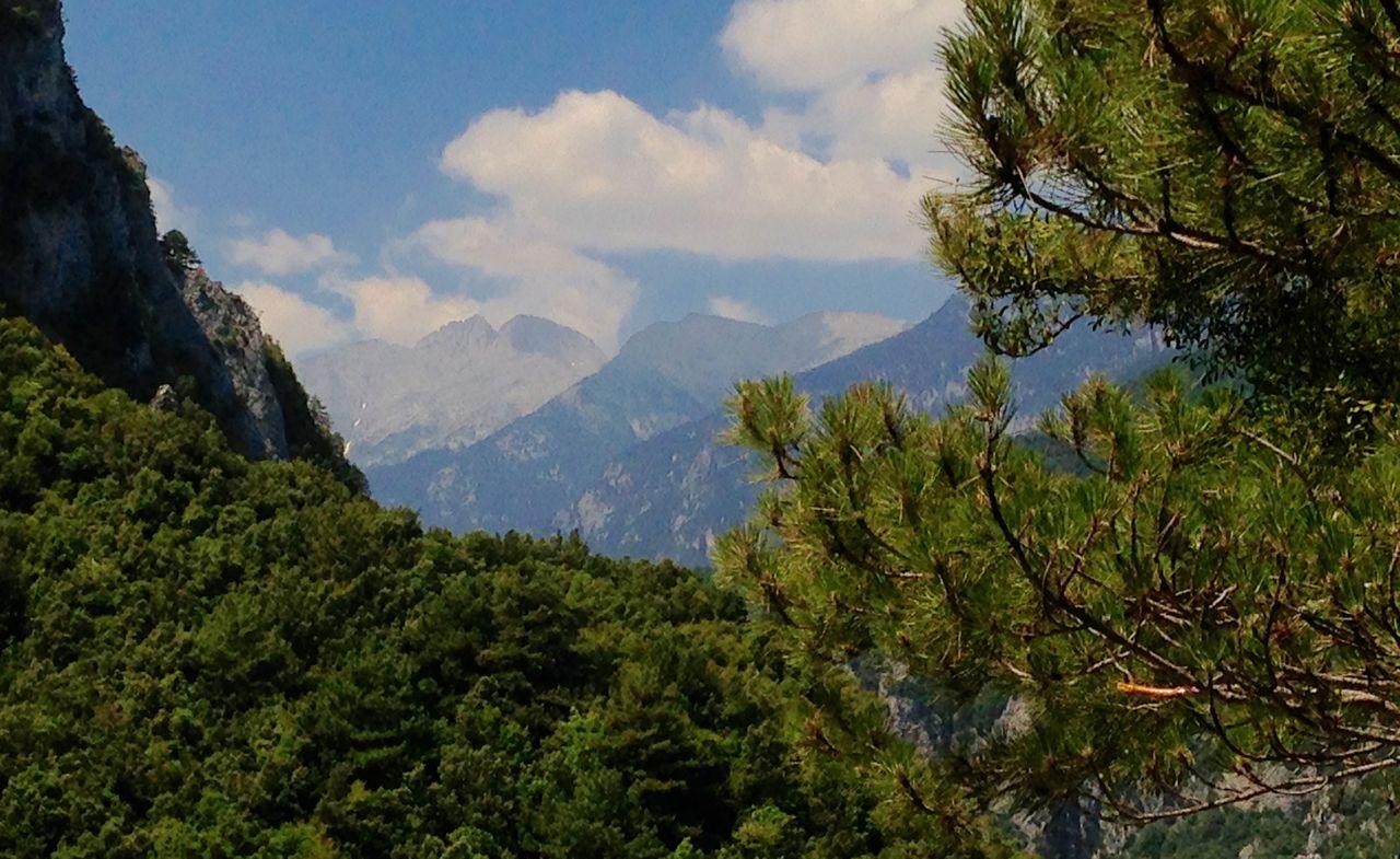Θέα από Προφήτη Ηλία προς κορυφή.