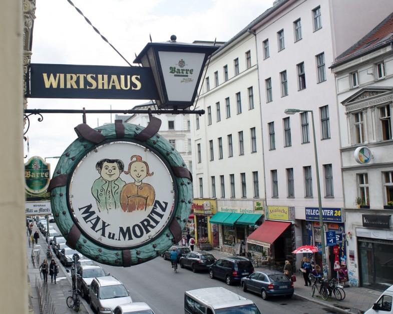Max and Moritz restaurant in Kreuzberg district