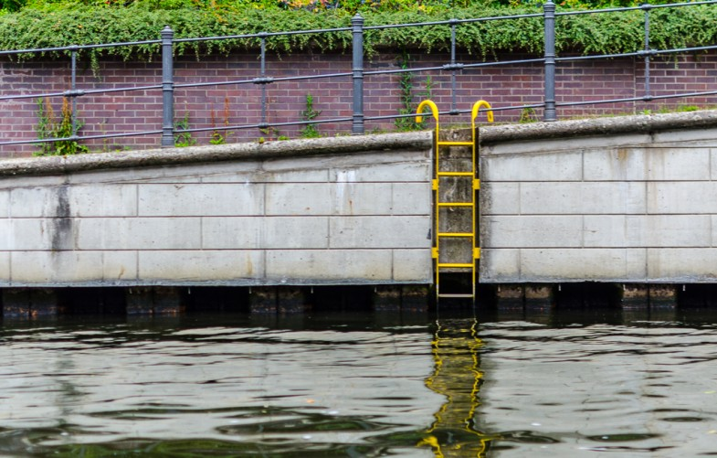 Ladder by the river