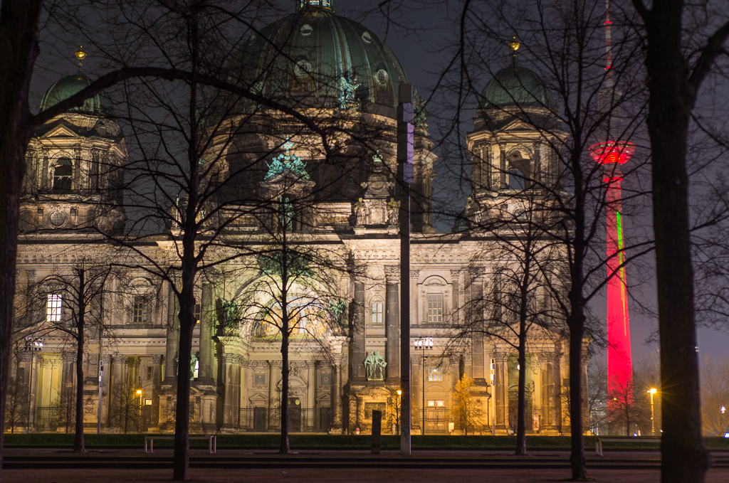 Berlin Cathedral and Fernsehturm