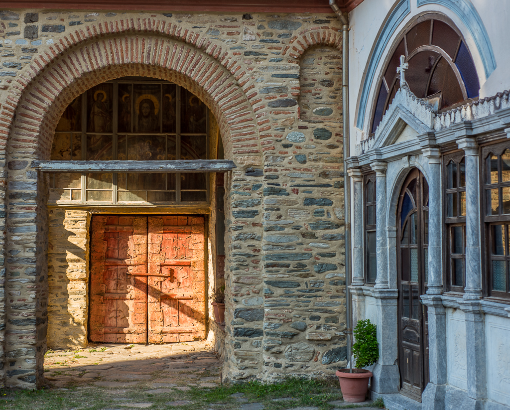Inside Iviron Monastery
