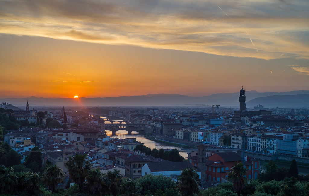 This is one of the top Florence attractions; watching the sunset from Piazzale Michelangelo.