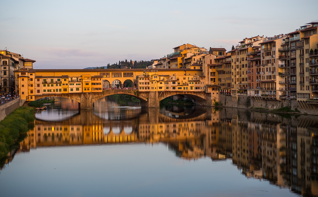 Ponte Vecchio, one of the main tourist attractions.